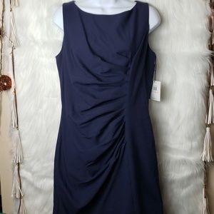 NEW Calvin Klein Indigo Blue Sleeveless Dress
